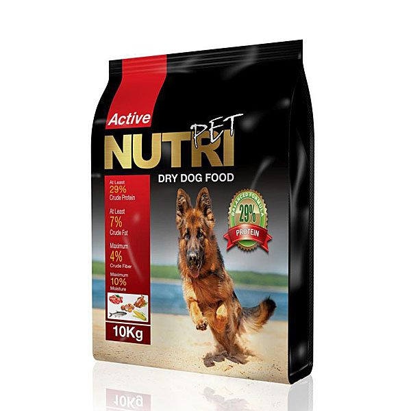 غذای خشک سگ 10 کیلویی با ٢٩%پروتئین نوتری پت NUTRI PET