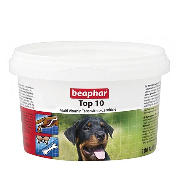 قرص مولتی ویتامین سگ تاپ تن بیفار - Beaphar Top 10 Multi Vitamin Tabs