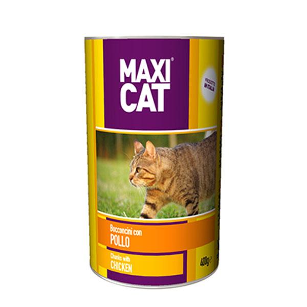 کنسرو غذای گربه حاوی عصاره مرغ ماکسی کت والپت - Valpet Maxi Cat