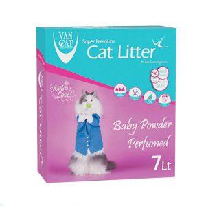 خاک گربه ون کت با رایحه پودر بچه - VanCat Litter Baby