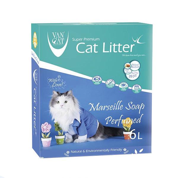 خاک گربه ون کت با رایحه صابون فرانسوی - VanCat Marsilla Soap