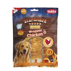 تشویقی میله ای دنتال با دورپیچ مرغ نوبی - STARSNACK Barbecue Wrapped Chicken