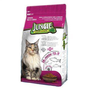 غذای گربه عقیم شده جانگل با طعم سالمون - Jungle Salmon Sterilised